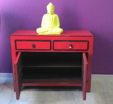 buffet chinois laqu rouge buffets et commodes et mobilier sur galerie d mesure. Black Bedroom Furniture Sets. Home Design Ideas