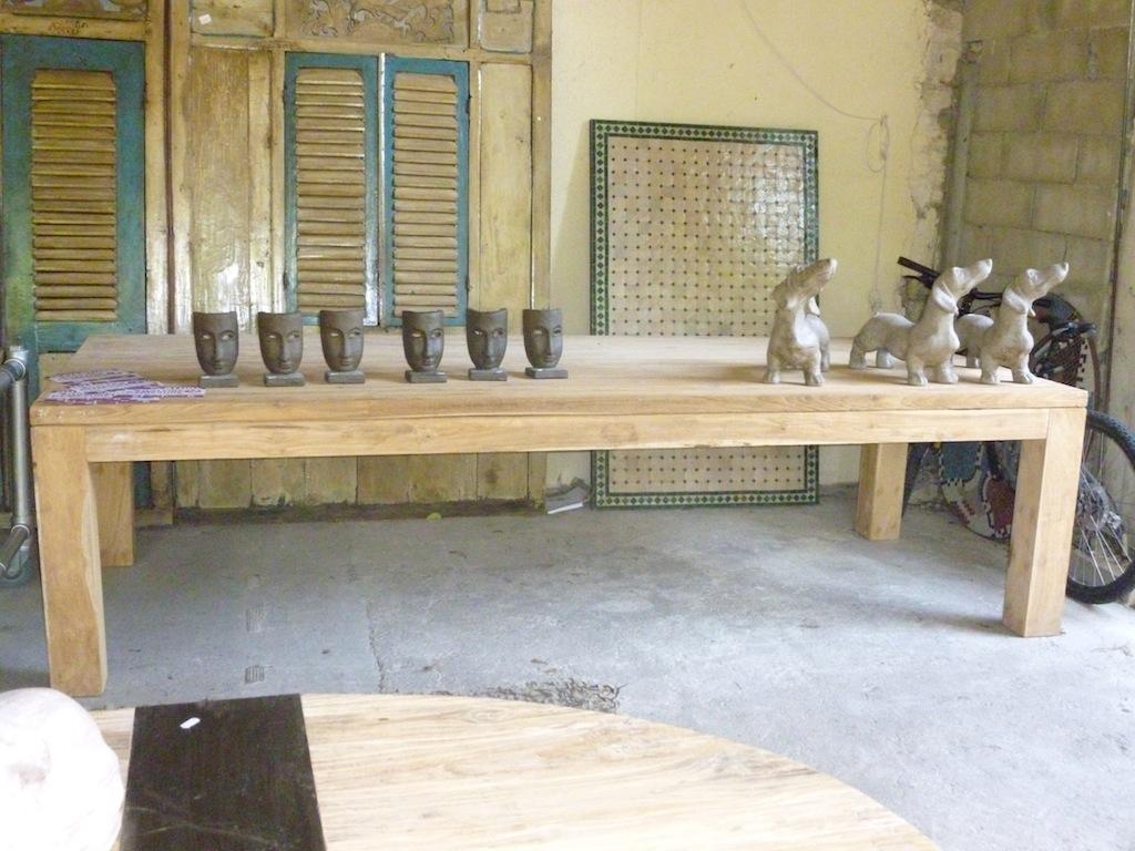 table teck recycl 300 tables de salle manger et mobilier sur galerie d mesure. Black Bedroom Furniture Sets. Home Design Ideas