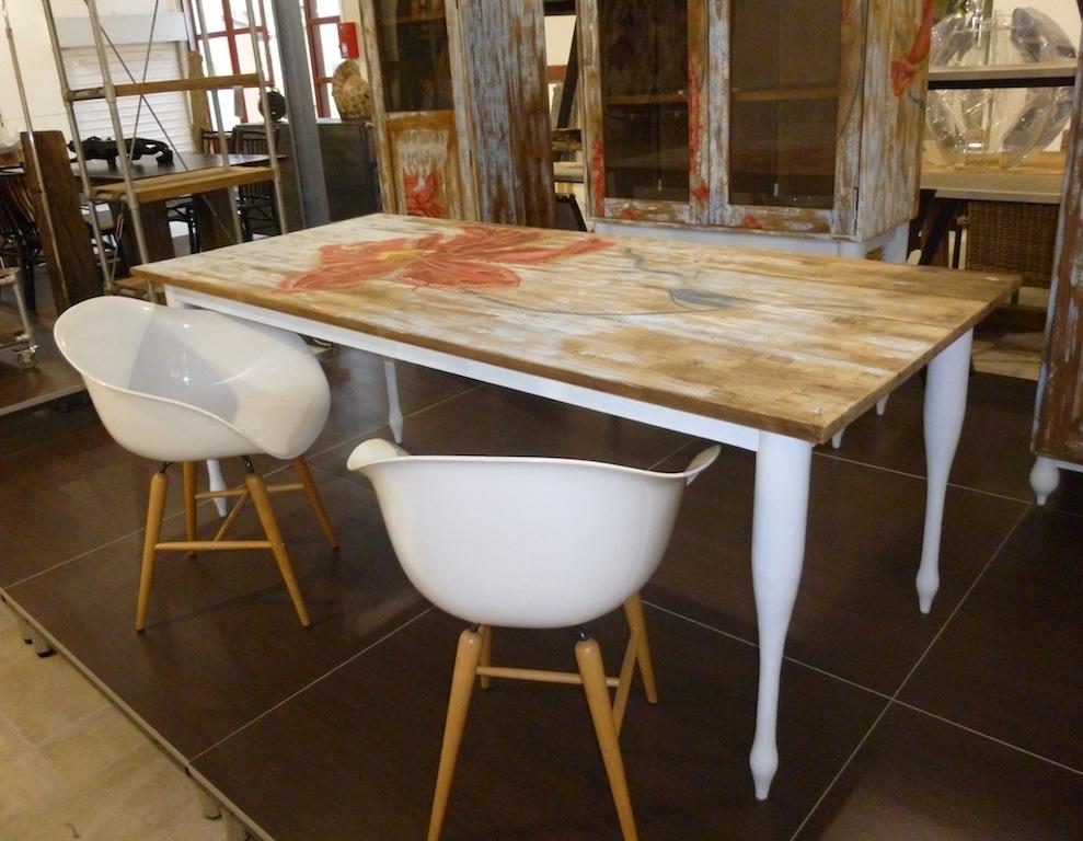 Table hibiscus tables de salle manger et mobilier sur for Mobilier de france table salle a manger