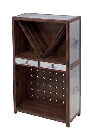 Bar en bois et métale, casier à bouteilles, table de bar ...