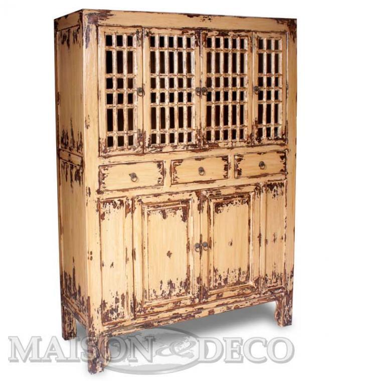 buffet bas en bois enfilade en acier commode en pin vieilli meubles en m tal et bois recycl. Black Bedroom Furniture Sets. Home Design Ideas