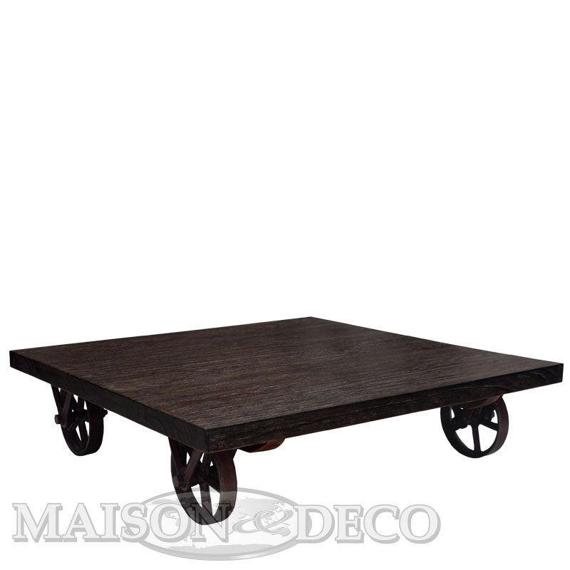 Table basse Lello sur roulettes