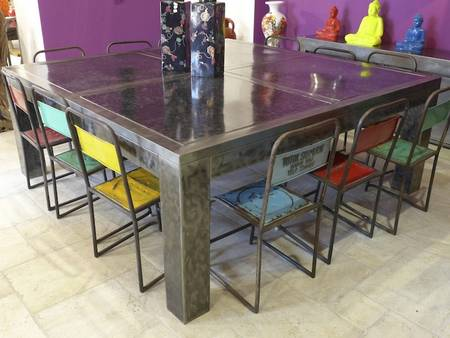 GRANDE TABLE DAMIER 200 X 200